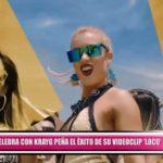 """Leslie Shaw celebra con Krayg Peña el éxito de su videoclip """"Loco"""""""