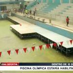 Natación: Dentro de 10 días piscina Olímpica estaría habilitada