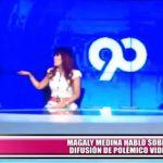 Magaly Medina habló sobre difusión de polémico video