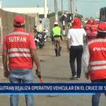 SUTRAN realiza operativo vehicular en el cruce de Salaverry
