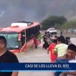 Virú: Casi se los lleva el río