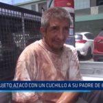 Trujillo: Sujeto atacó con un cuchillo a su padre de 69 años