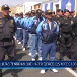 La Libertad: Policías tendrán que hacer ejercicio físico todos los sábados