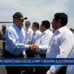 Trujillo: PPK inspecciona Escuela PNP y desaira a autoridades locales
