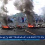 Miramar: Pobladores toman carretera para exigir puentes peatonales