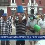 Trujillo: Protestan contra gestión de alcalde y gobernador