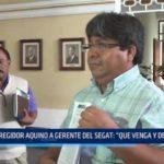 """Regidor Aquino a gerente del SEGAT: """"Que venga y dé la cara"""""""