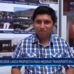 La Esperanza: Regidor lanza propuesta para mejorar transporte en el distrito