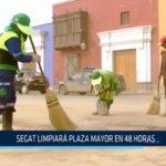 MPT: SEGAT limpiará Plaza Mayor en 48 horas