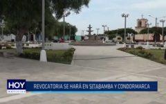 ONPE: Revocatoria se hará en Sitabamba y Condormarca