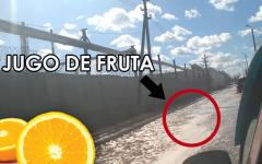 Ciudad de Rusia se inunda con jugo de frutas
