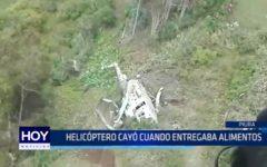 Piura: Helicóptero cayó cuando entregaba alimentos