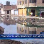 Chiclayo: Colapso de desagüe pone en peligro salud de escolares
