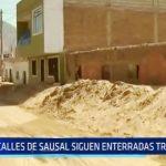 Ascope: Calles de Sausal siguen enterradas tras huaicos