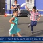 """""""Pañuelos Solidarios"""": Trujillanos llevaron ayuda y aprendieron a bailar marinera"""