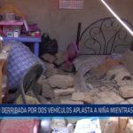 Huanchaco: Pared derribada por dos vehículos aplasta a niña mientras dormía