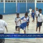 Este lunes inician las clases escolares en Virú y Trujillo