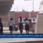 Trujillo: Escolares empiezan clases este lunes 10