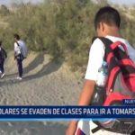 Chimbote: Escolares evaden clases para ir a tomarse fotos