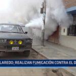 Laredo: Realizan fumigación contra el dengue