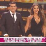 "Christian Domínguez e Isabel Acevedo regresaron al reality ""El gran show"""