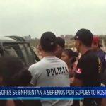 El Porvenir: Invasores se enfrentan a serenos y policías