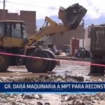 Trujillo: Gobierno Regional dará maquinaria a MPT para reconstrucción de la ciudad