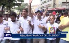 """Venezuela: Realizan """"Marcha del silencio"""" como protesta contra el gobierno"""