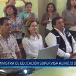 La Libertad: Ministra de Educación supervisa reinicio de clases