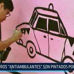 """Muros """"antiambulantes"""" son pintados por artistas"""