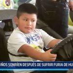 Mampuesto: Niños sonríen después de sufrir furia de huaicos