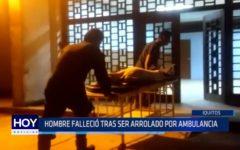 Iquitos: Hombre falleció tras ser arrollado por ambulancia