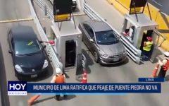 Lima: Municipio de Lima ratifica que peaje de Puente Piedra no va