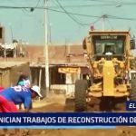 El Milagro: Inician trabajos de reconstrucción de pistas