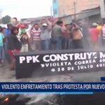 Iquitos: Violento enfrentamiento tras protesta por nuevo colegio