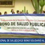 Personal de Salud exige bono solidario al Gobierno
