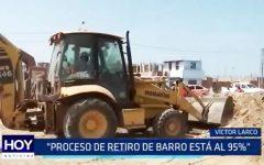 Víctor Larco: Proceso de retiro de barro y desmonte está al 95%