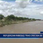 Piura: Refuerzan riberas tras crecida de río