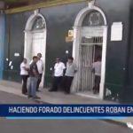 Iquitos: Haciendo forado delincuentes roban en farmacia