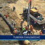 Chavimochic: Tubería matriz de agua está reparada casi en su totalidad