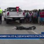 Piura: Hombre fallece al chocar su motocicleta con ómnibus