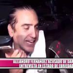 Alejandro Fernández acusado de dar entrevista en estado de ebriedad