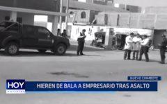 Chimbote: Hieren de bala a empresario tras asalto