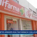 Trujillo: Sujetos armados asaltan farmacia y se llevan 2 mil soles
