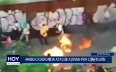 Venezuela: Maduro denuncia ataque a joven por confusión