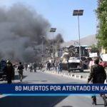 Afganistán: 80 muertos tras atentado en Kabul