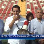 """Valdez: """"Decisión de alcalde nos tomó por sorpresa"""""""