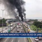 Brasil: Enfrentamientos y caos en Río de Janeiro