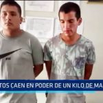 Trujillo: Caen sujetos con 1 kilo de marihuana en su poder