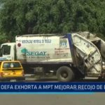 Trujillo: OEFA exhorta a MPT mejorar recojo de basura